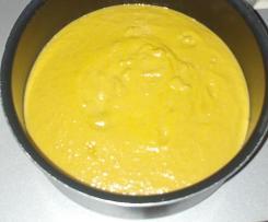 Velouté Petits pois-carottes et lardons
