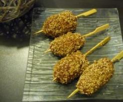 Brochettes de boeuf sésame/soja