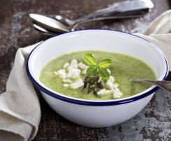 Soupe de courgette et mozzarella