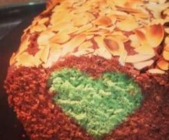 CAKE CHOCO COEUR PISTACHE