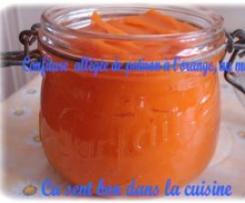 Confiture allégée de potiron à l'orange et au miel