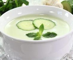 soupe froide au concomdre et a la menthe