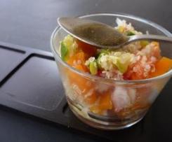 Salade de quinoa aux légumes croquants