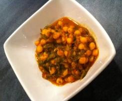 Dahl de pois chiches aus légumes (vegan, sans gluten, sans lactose)