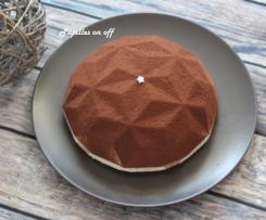 Entremets façon tiramisu : mascarpone, chocolat et café