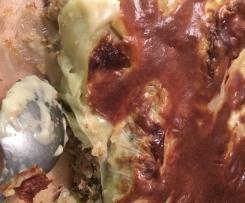 choux farcies en gratin à la béchamel sans gluten ni lait