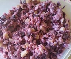 salade chou, comté, lardons