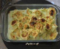 Gratin de raviolis ricotta et épinards à la béchamel