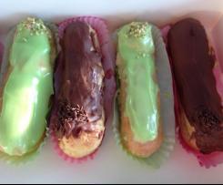 Eclairs Chocolat, vanille et pistache