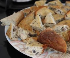 Champignons au lard en clafoutis ou apéritif