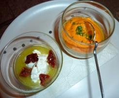 verrines carottes/ricotta/cumin
