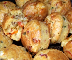 Muffins lardons et petits légumes