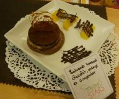 Entremet fondant chocolat, orange et gingembre