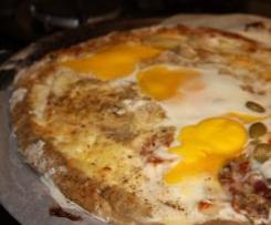 Pizza bretonne sarrasin/jambon/fromage