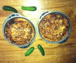 2 pizzas d' été  aux courgettes