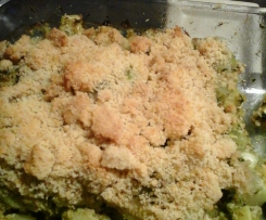 Crumble courgettes saumon pesto