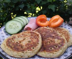 Pancakes de seigle et lait fermenté