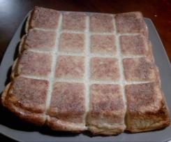 gâteau oignon, pommes de terre