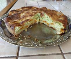 Gâteau au skyr, abricots basilic