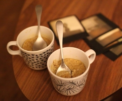 Mugcake chocolat blanc (sans farine, sans lait)