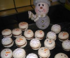 macarons bonhommes de neige et flocons