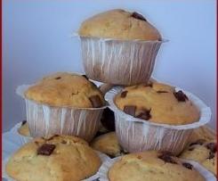Muffins aux chunks chocolait au lait