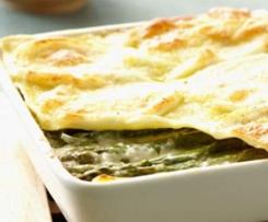 Lasagne aux asperes vertes