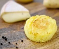 Muffin de pommes de terre coeur coulant au fromage