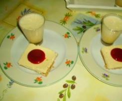 cheese-cake vanille au coulis de fraises