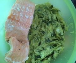 Saumon et fondue de poireaux