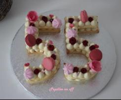 Number cake aux framboises (ou Letter cake)