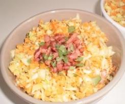 Salade rapide et croquante chou, carottes, noix