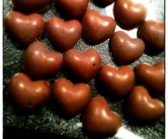 Petits coeurs en chocolat