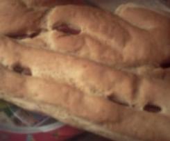 pain à l'ail et au jambon