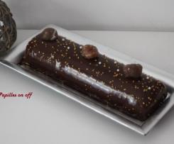 Bûche bavaroise poires, marrons et chocolat noir