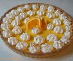tarte a l'orange meringuée