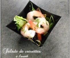 Salade de crevettes à l'aneth