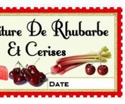Confiture de Rhubarbe et cerises