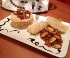 Moules Chorizo et ses légumes fondants, croquants