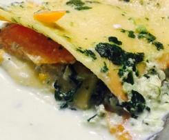 "Lasagne ""healty"" carotte & épinard/ricotta"