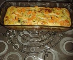 Variante de Flan aux courgettes, carotte et chèvre