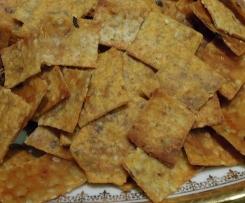 Biscuits salés aux graines de lin pour apéro