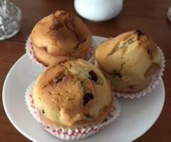 Muffins à la poudre d'amandes et aux pépites de chocolat