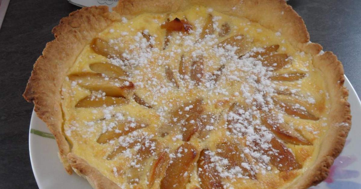 tarte normande aux pommes par gege44 une recette de fan retrouver dans la cat gorie desserts. Black Bedroom Furniture Sets. Home Design Ideas
