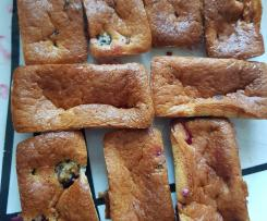 Mini cake aux mûres sans gluten