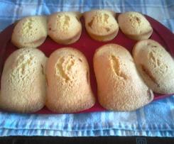 madeleine sans gluten fourrées a la confiture