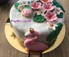 Gâteau Flamant Rose - Baby shower