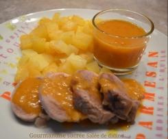 Filet mignon et ses pommes de terres sauce au Pineau des Charentes