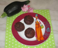 Muffins extra moelleux courgette/choco sans : oeufs, lait, beurre!