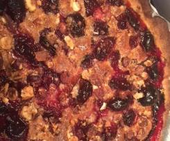 tarte prunes noisettes